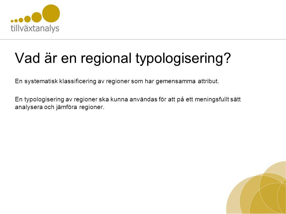 Vad är en regional typologisering
