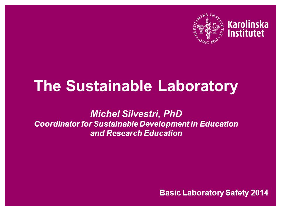 Basic Laboratory Safety 2014