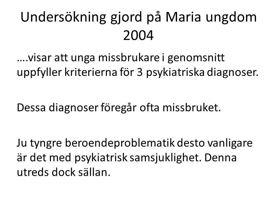 Undersökning gjord på Maria ungdom 2004