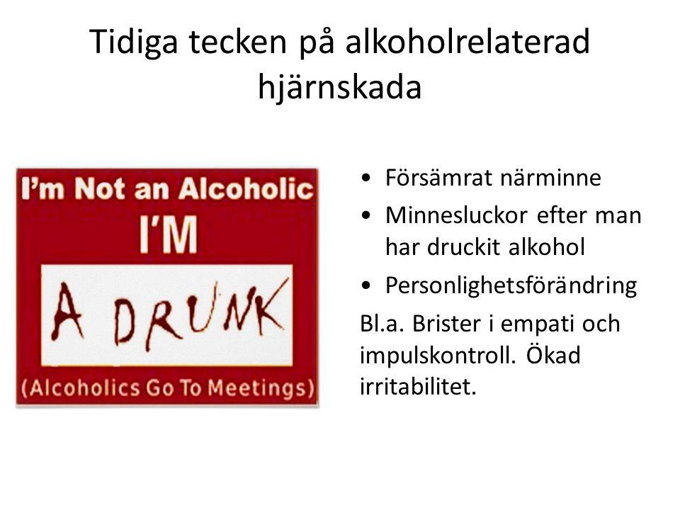 Tidiga tecken på alkoholrelaterad hjärnskada
