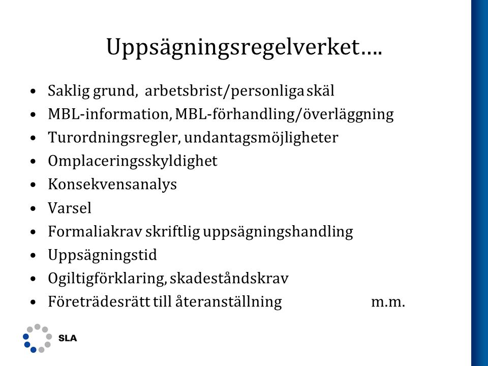 Uppsägningsregelverket….