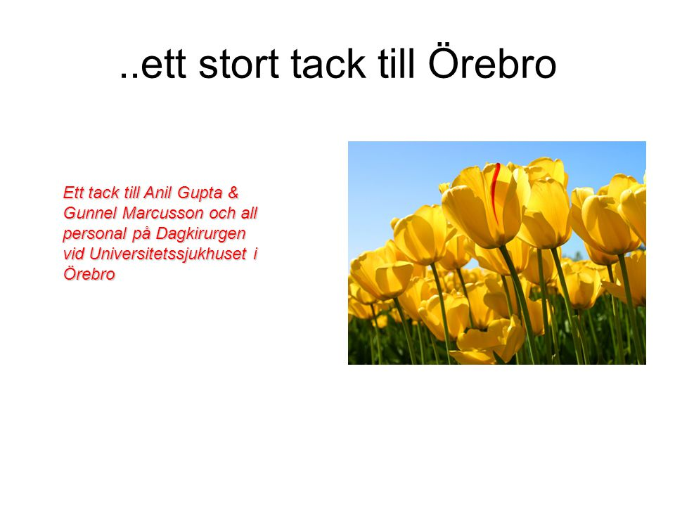 ..ett stort tack till Örebro