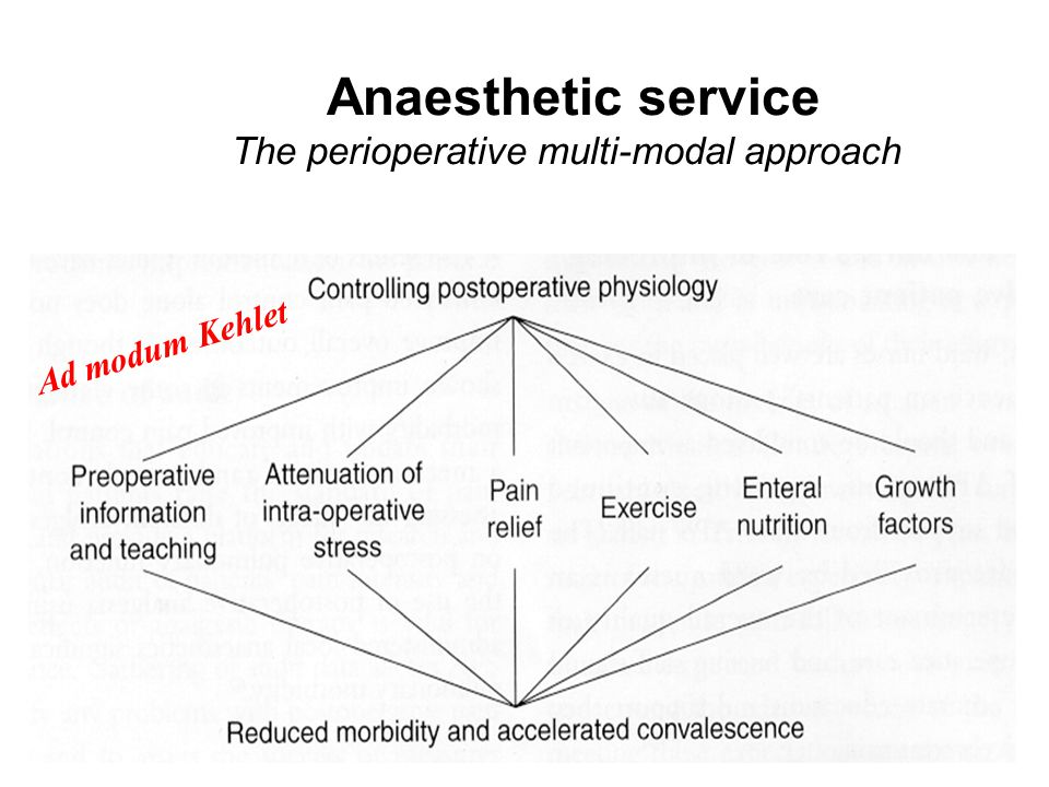 Anaesthetic service The perioperative multi-modal approach