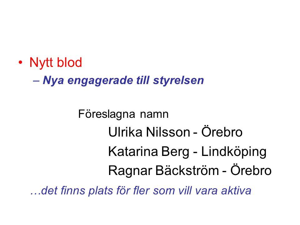 Ulrika Nilsson - Örebro Katarina Berg - Lindköping