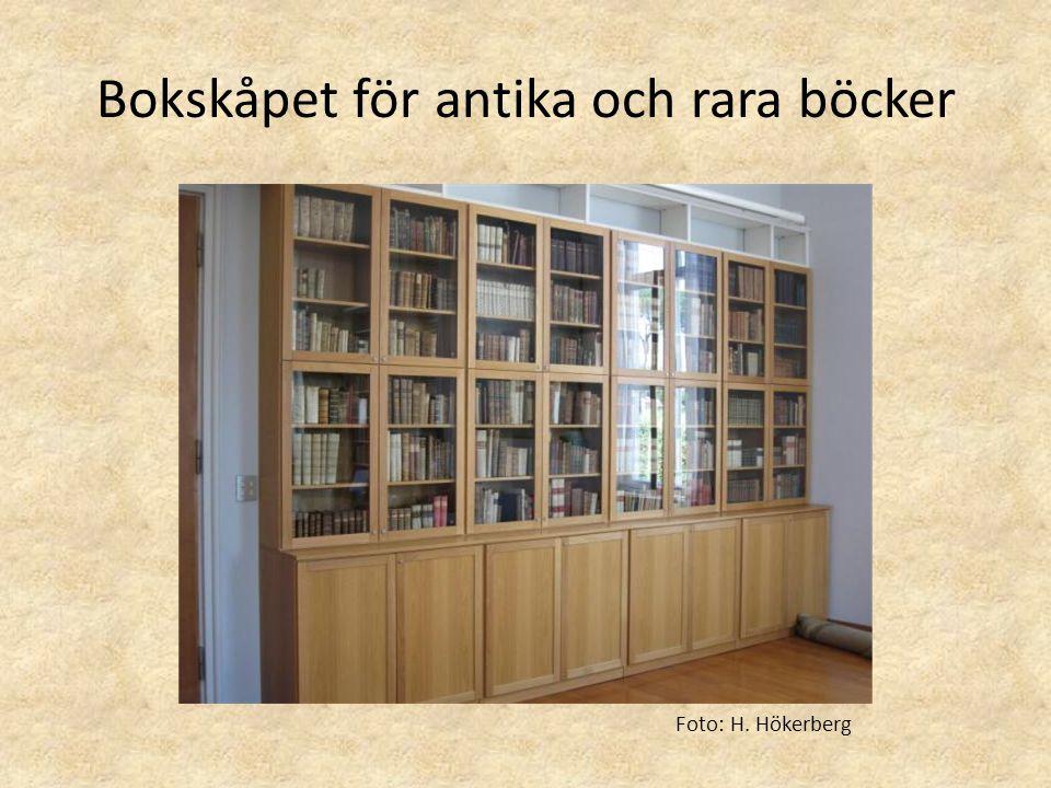 Bokskåpet för antika och rara böcker