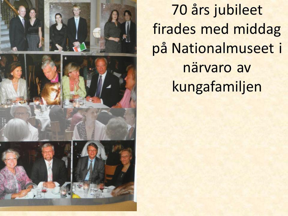 70 års jubileet firades med middag på Nationalmuseet i närvaro av kungafamiljen