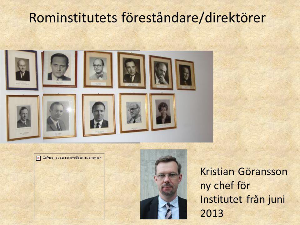 Rominstitutets föreståndare/direktörer