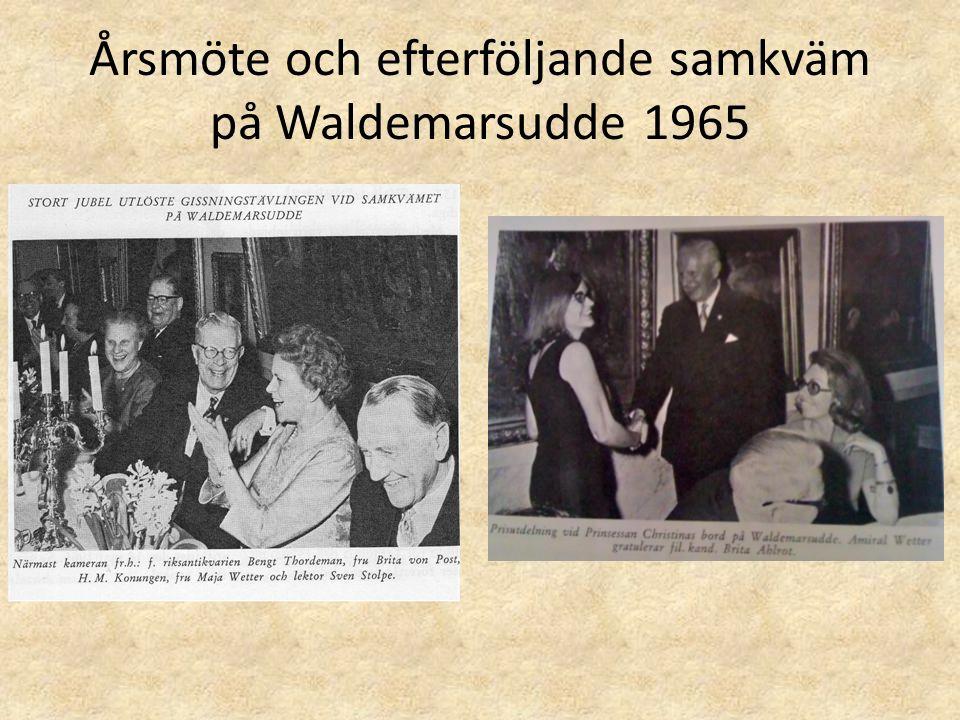 Årsmöte och efterföljande samkväm på Waldemarsudde 1965