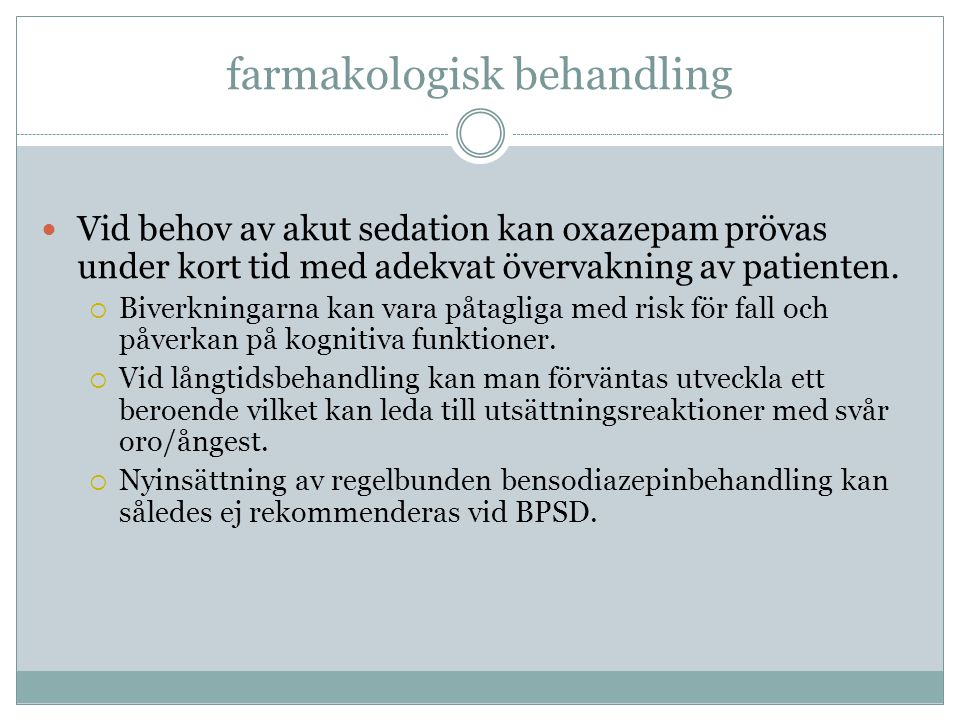 farmakologisk behandling
