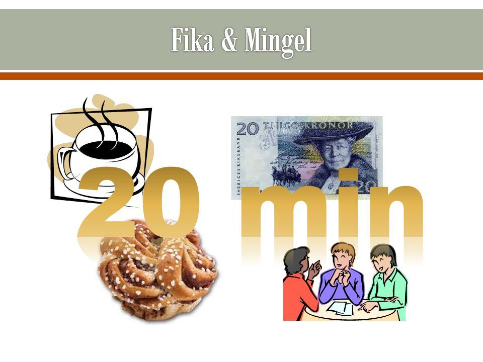 Fika & Mingel 20 min 20 min fika och frågestund