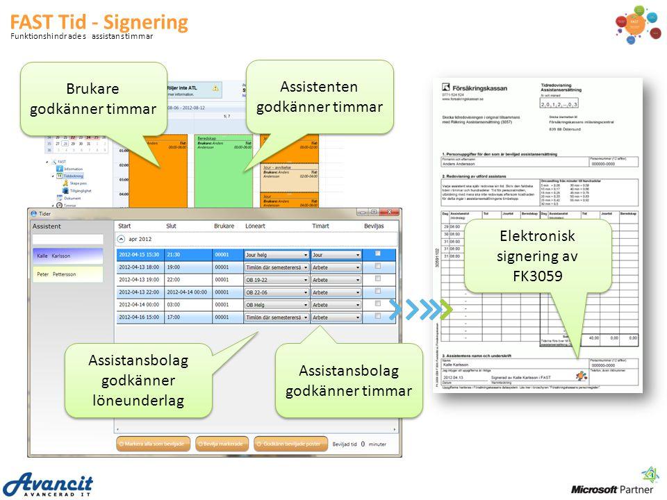 FAST Tid - Signering Brukare godkänner timmar