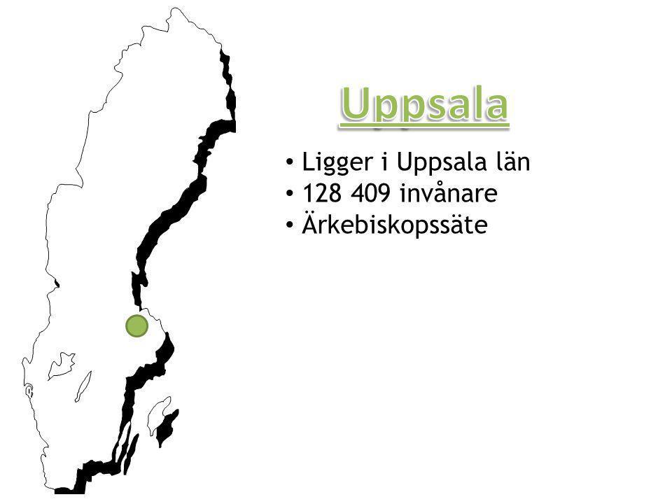 Uppsala Ligger i Uppsala län 128 409 invånare Ärkebiskopssäte