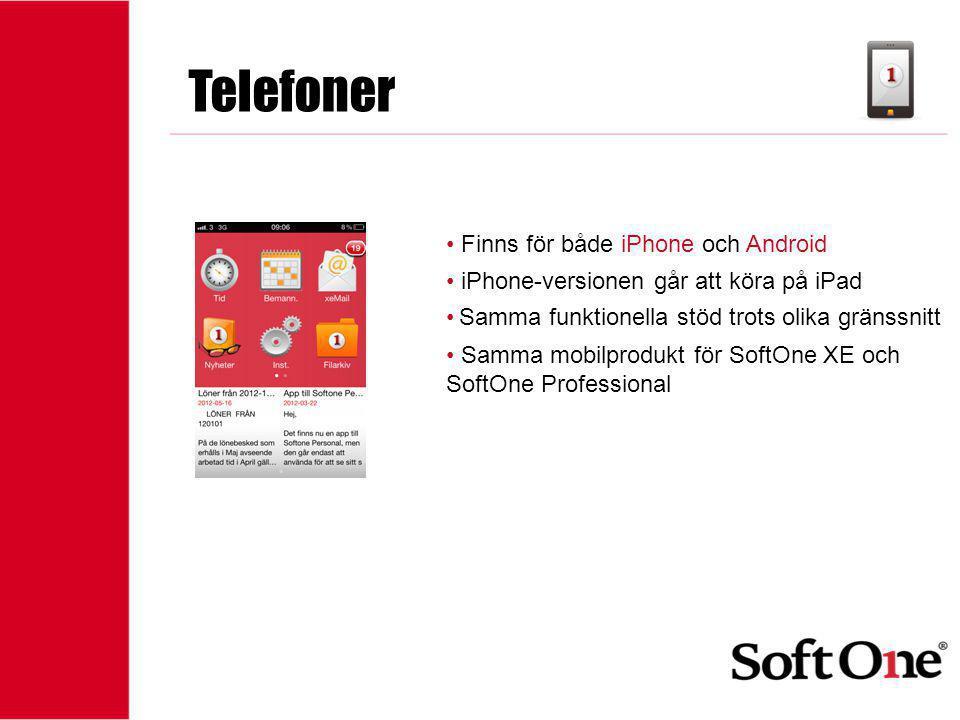 Telefoner Finns för både iPhone och Android