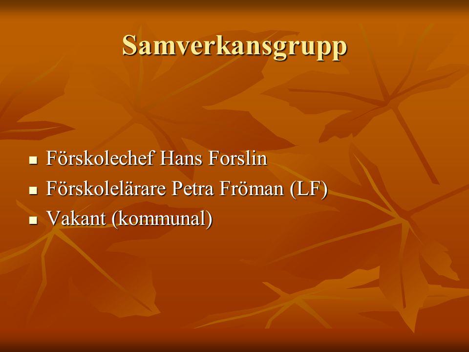 Samverkansgrupp Förskolechef Hans Forslin