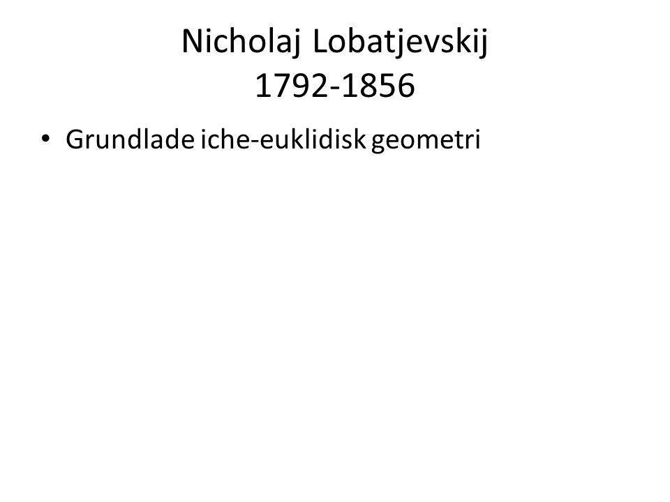 Nicholaj Lobatjevskij 1792-1856