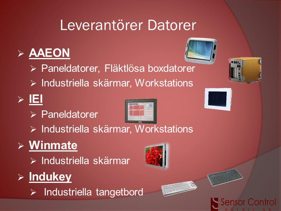 Leverantörer Datorer AAEON IEI Winmate Indukey