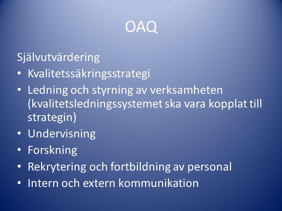 OAQ Självutvärdering Kvalitetssäkringsstrategi