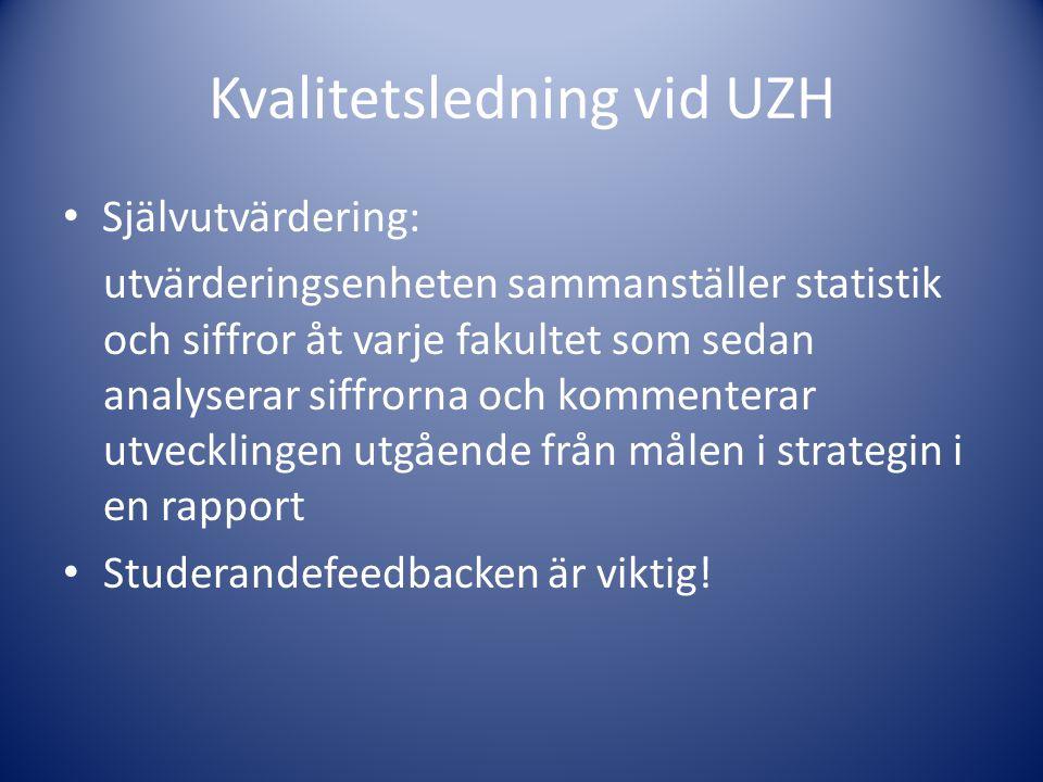 Kvalitetsledning vid UZH