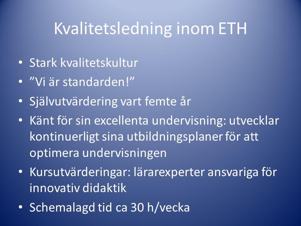 Kvalitetsledning inom ETH