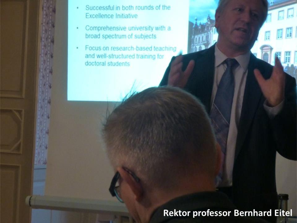 Rektor professor Bernhard Eitel