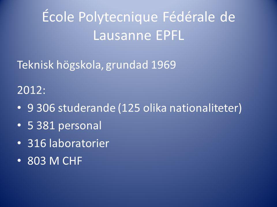 École Polytecnique Fédérale de Lausanne EPFL