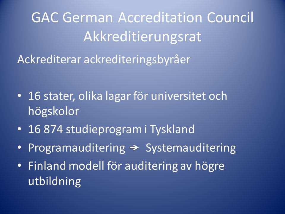 GAC German Accreditation Council Akkreditierungsrat