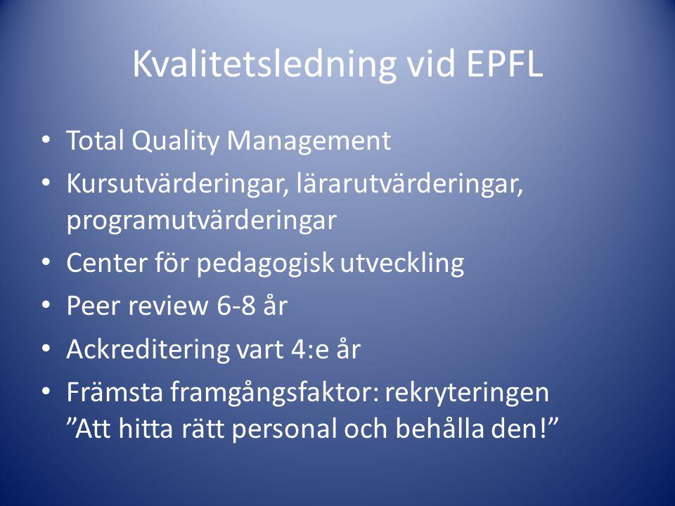 Kvalitetsledning vid EPFL