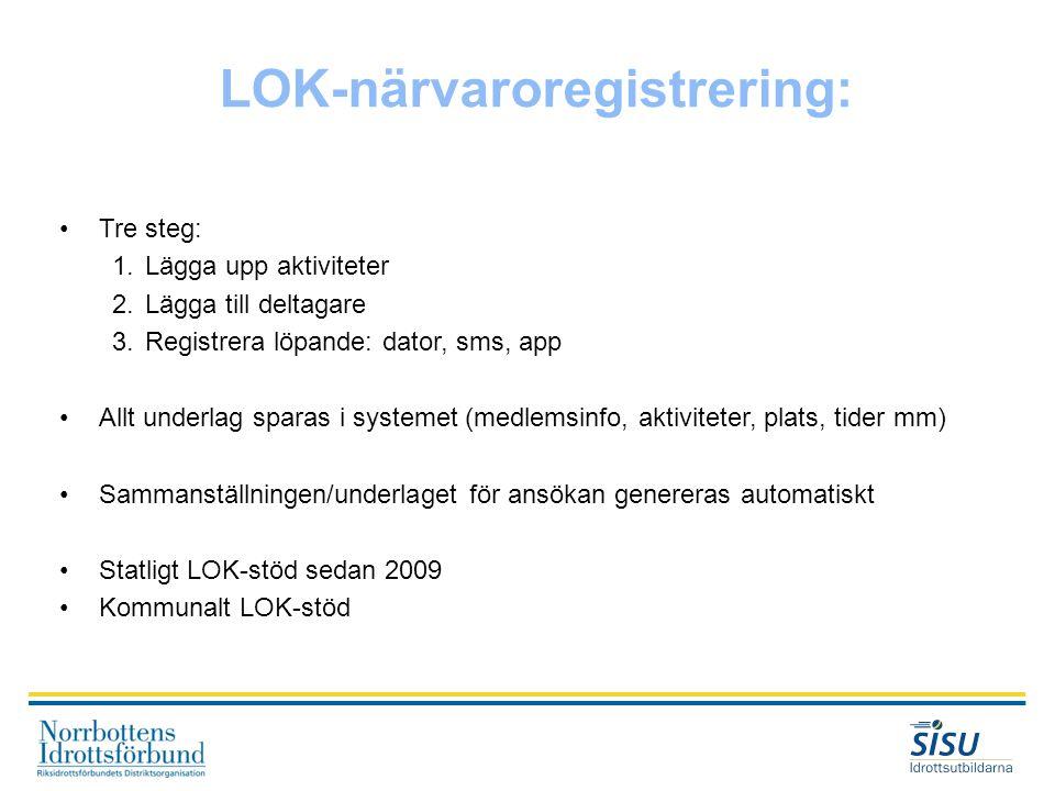 LOK-närvaroregistrering:
