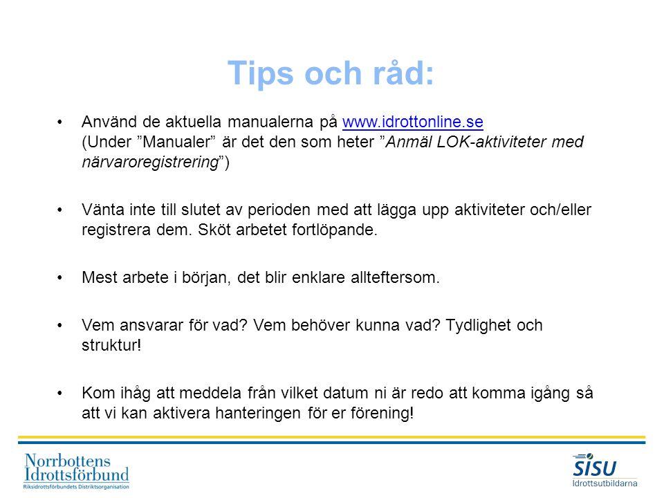 Tips och råd: