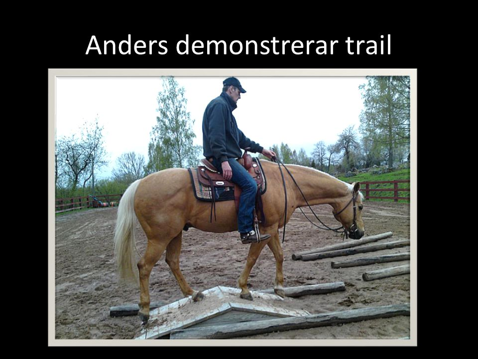 Anders demonstrerar trail