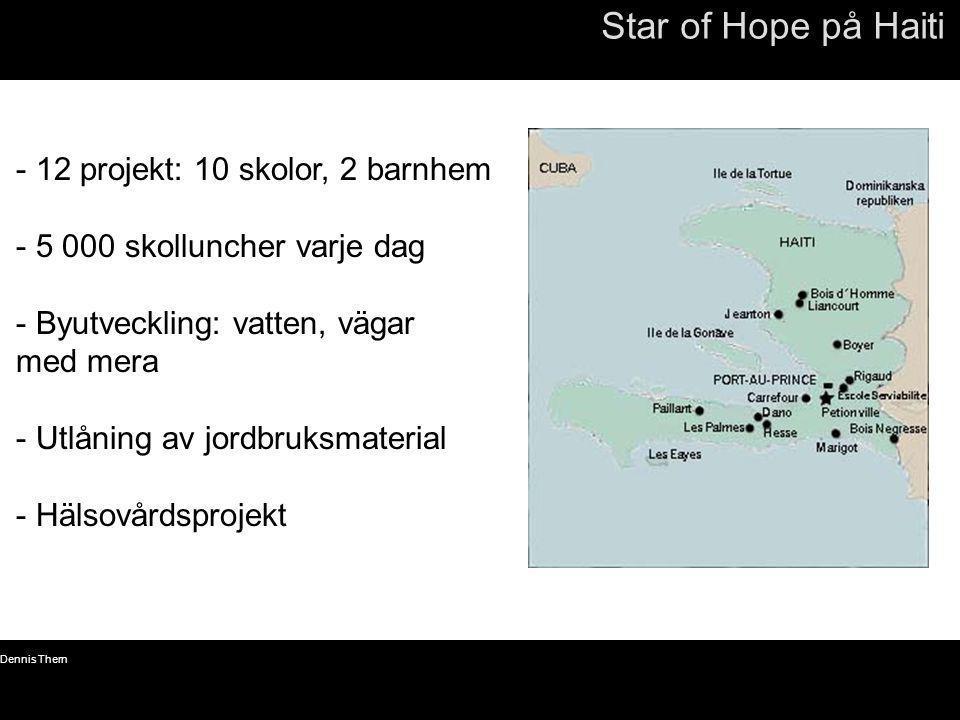 Star of Hope på Haiti 12 projekt: 10 skolor, 2 barnhem