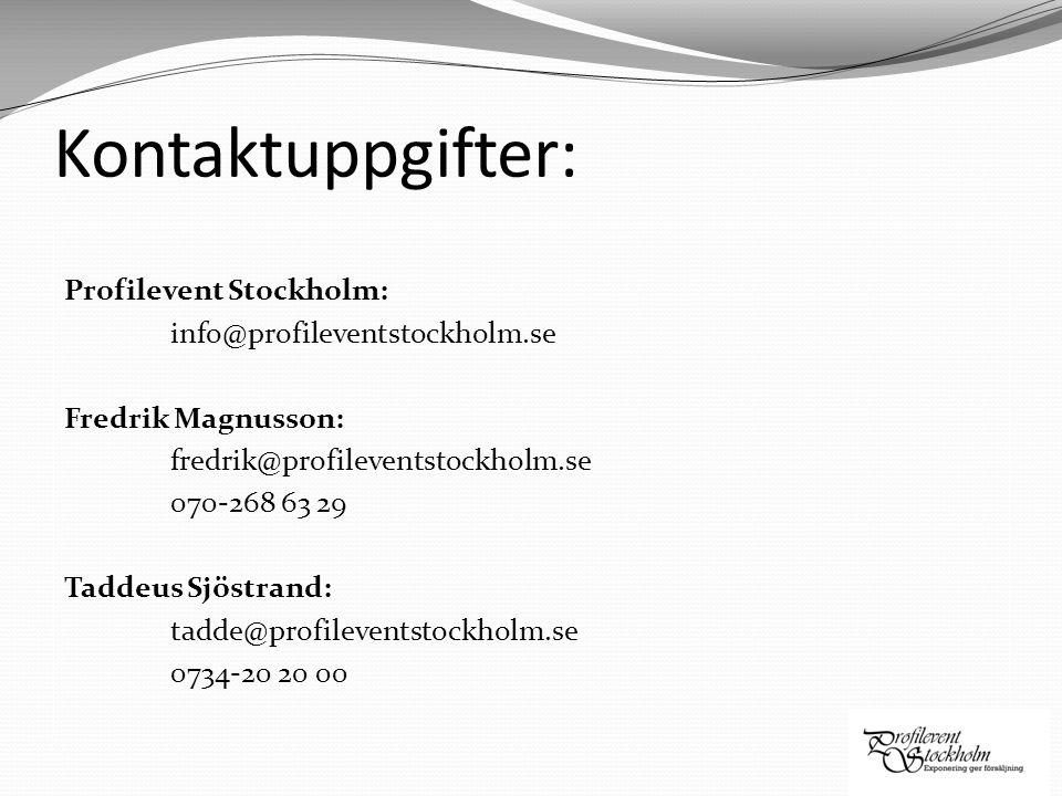 Kontaktuppgifter: