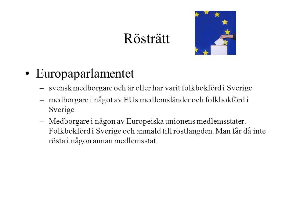 Rösträtt Europaparlamentet