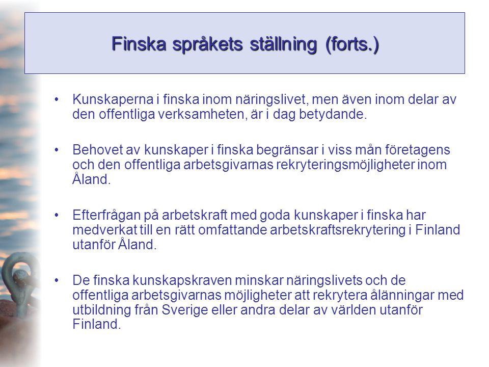 Finska språkets ställning (forts.)