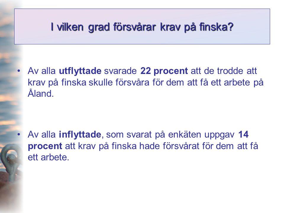 I vilken grad försvårar krav på finska