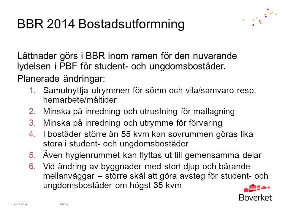 BBR 2014 Bostadsutformning