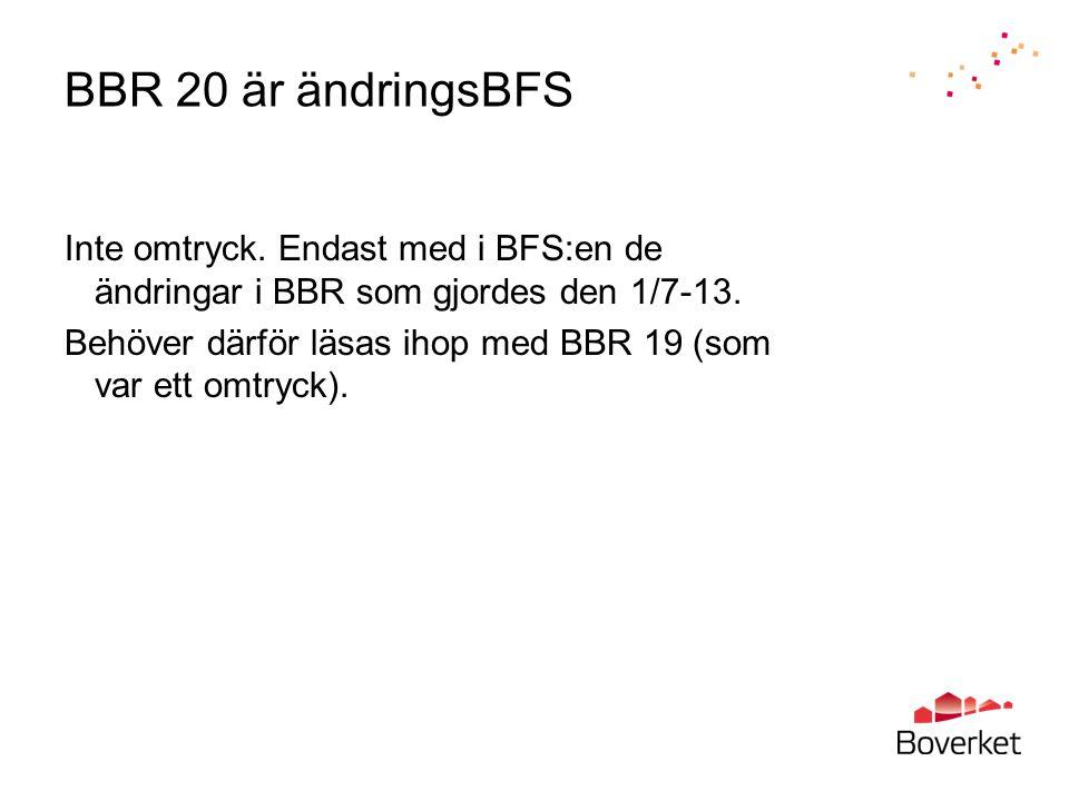 BBR 20 är ändringsBFS