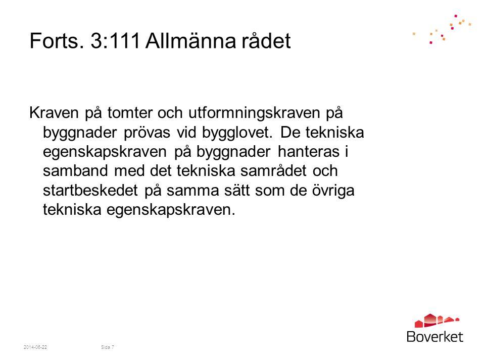 Forts. 3:111 Allmänna rådet