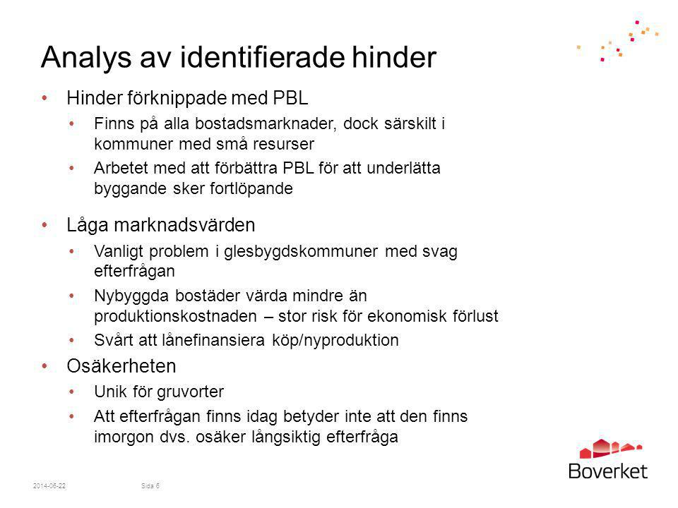 Analys av identifierade hinder
