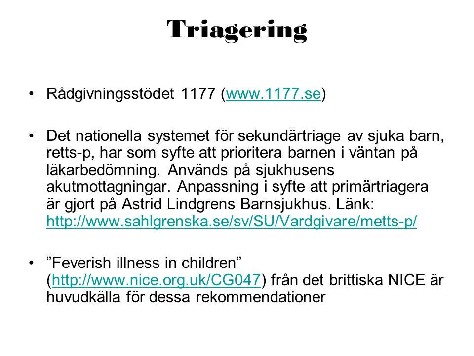 Triagering Rådgivningsstödet 1177 (www.1177.se)