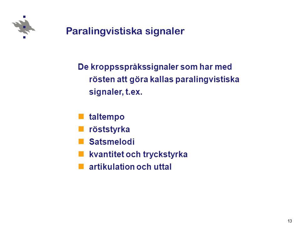 Paralingvistiska signaler