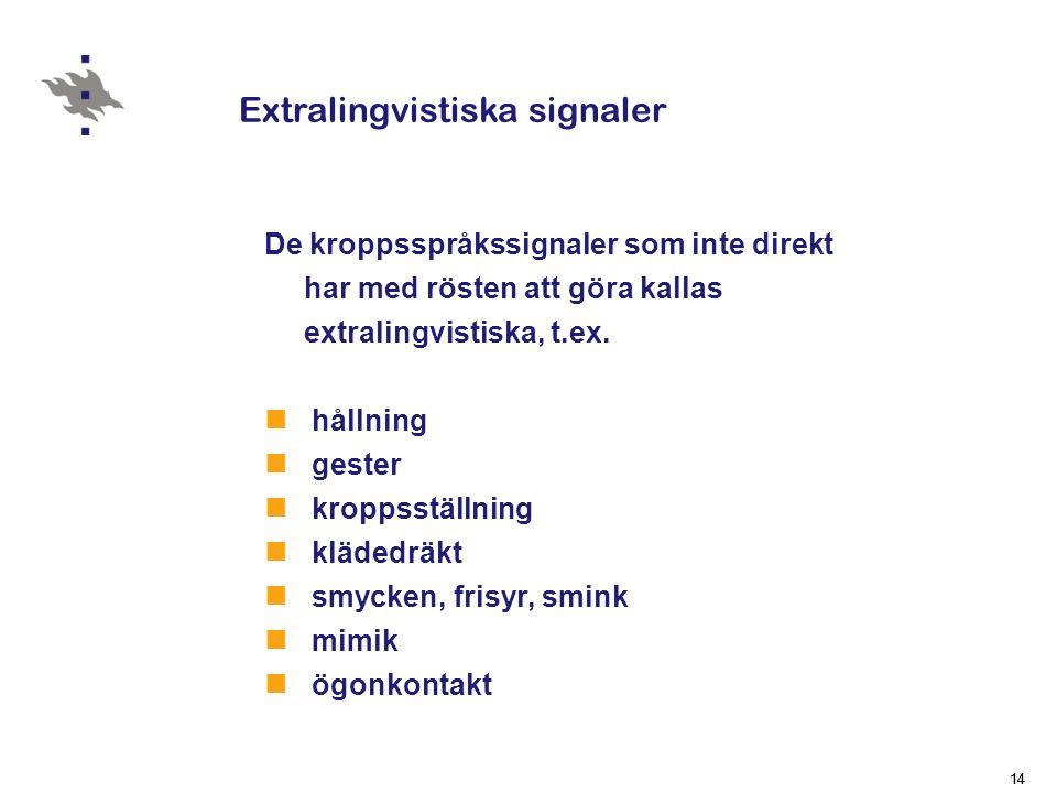 Extralingvistiska signaler