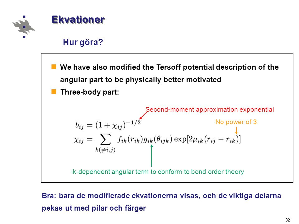 Ekvationer Hur göra Second-moment approximation exponential