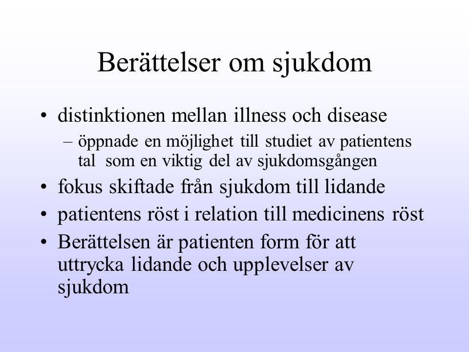 Berättelser om sjukdom