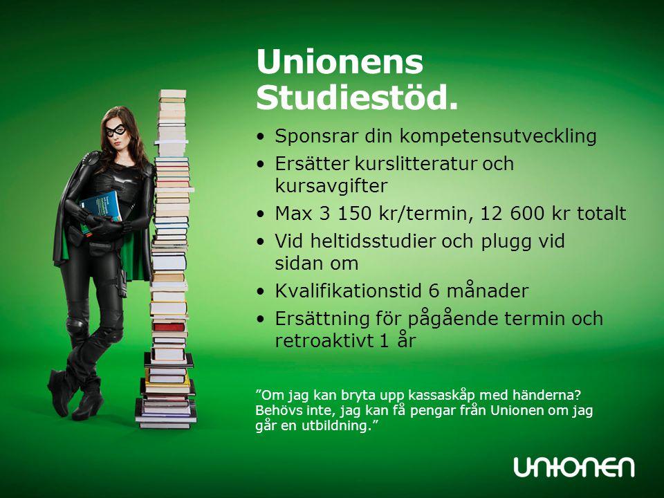 Unionens Studiestöd. Sponsrar din kompetensutveckling