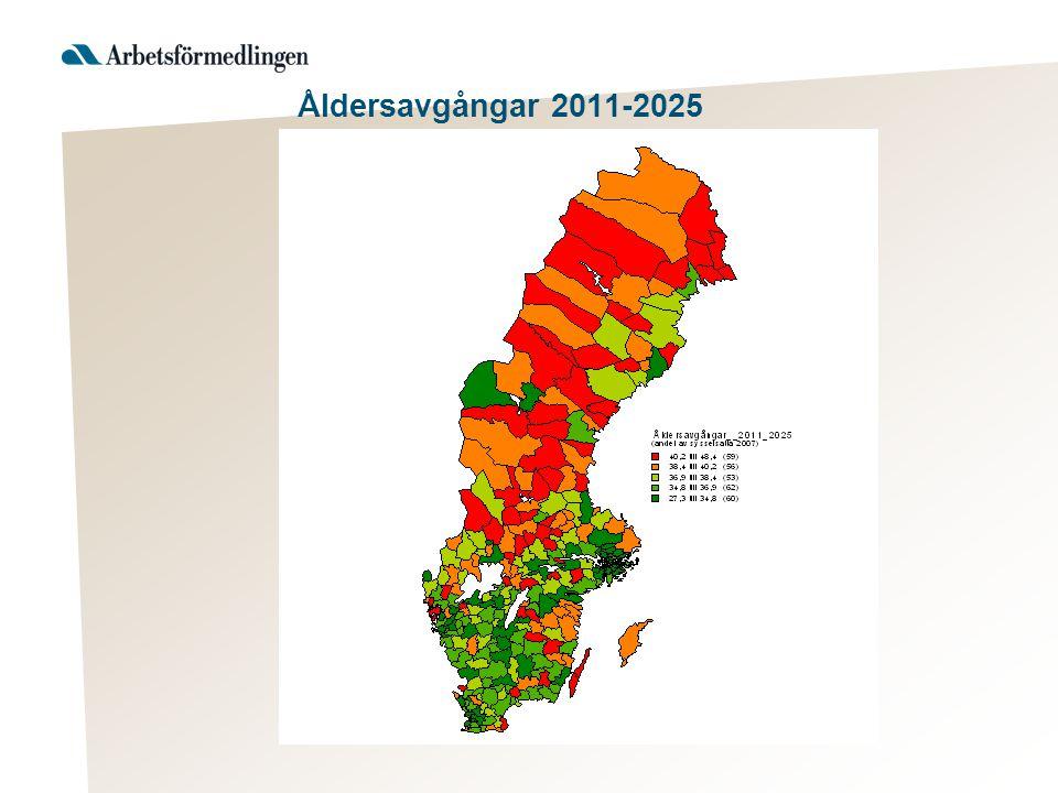 Åldersavgångar 2011-2025