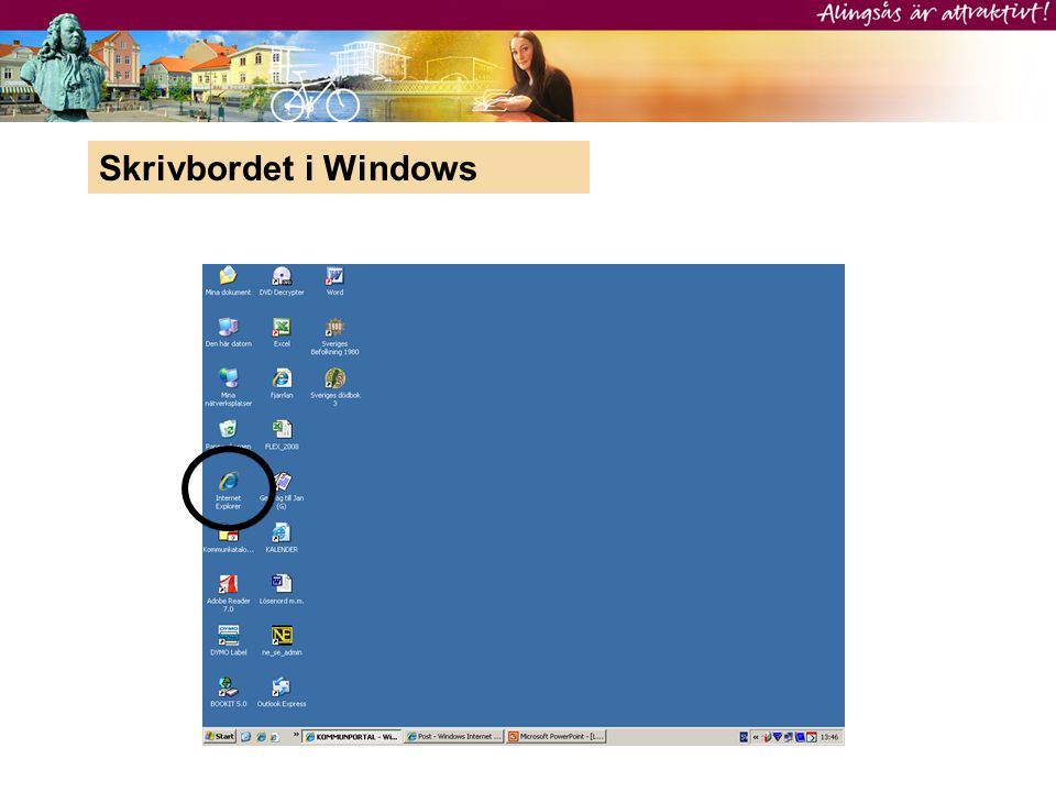 Skrivbordet i Windows