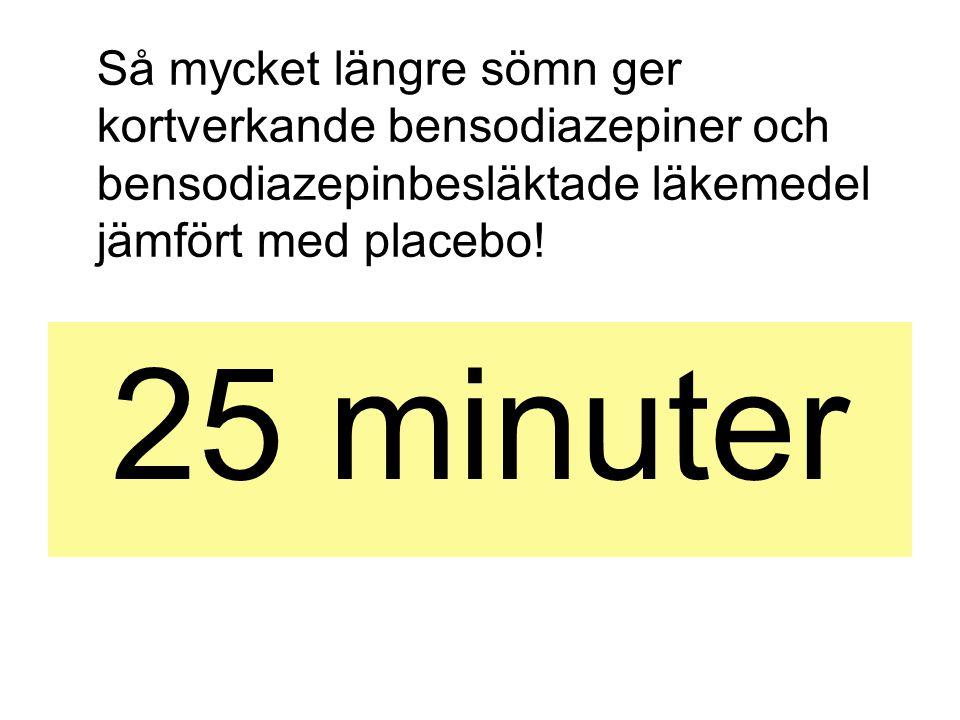 Så mycket längre sömn ger kortverkande bensodiazepiner och bensodiazepinbesläktade läkemedel jämfört med placebo!