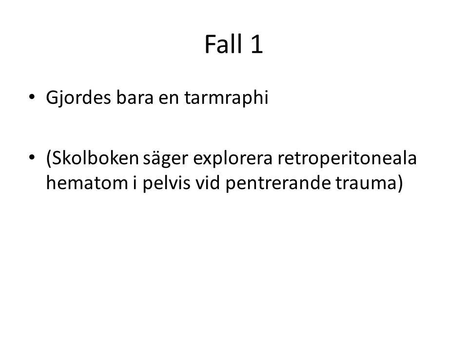 Fall 1 Gjordes bara en tarmraphi