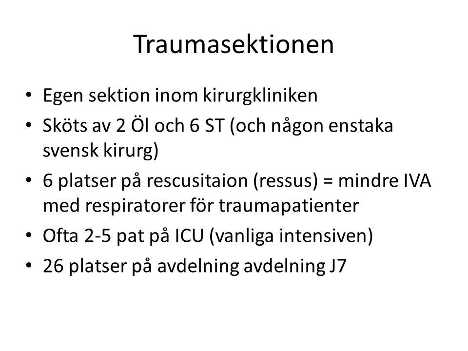 Traumasektionen Egen sektion inom kirurgkliniken